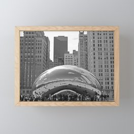 Chicago Clouds Framed Mini Art Print