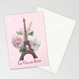 La Vie en Rose Stationery Cards