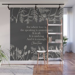For where love is... Claire Fraser. Wall Mural
