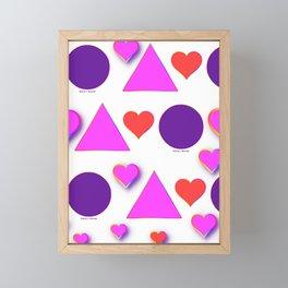 LOTS OF TRIANGLES HEARTS CIRCLES Framed Mini Art Print