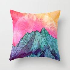 Sunset Sky Mounts Throw Pillow