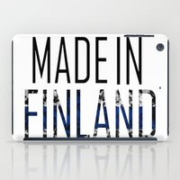 finland iPad Cases featuring Made In Finland by VirgoSpice