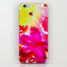Vibrant Florals iPhone Skin