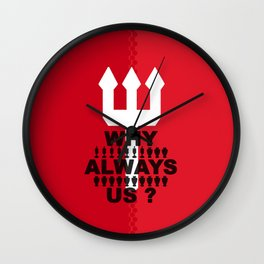 manchester united 2 Wall Clock