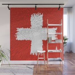 Extruded flag of Switzerland Wall Mural