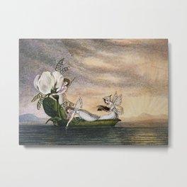 """Fairies Floating Downstream"" by Amelia Jane Murray Metal Print"