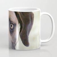 the hound Mugs featuring Hound Pup by IowaShots