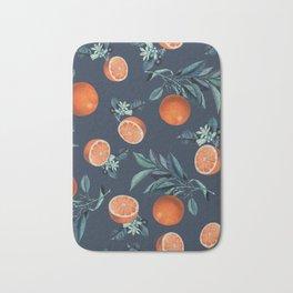 Lemon and Leaf Pattern VI Bath Mat