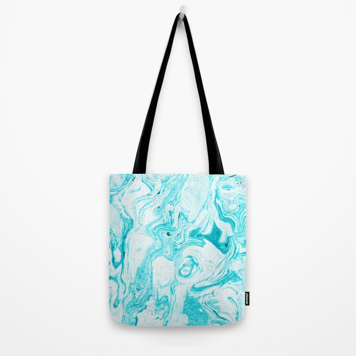 Ocean Blue Marble #society6 #decor #buyart Tote Bag