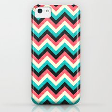 Chevron - Coral Turquoise Black Slim Case iPhone 5c