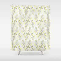 seahorse Shower Curtains featuring Seahorse by Pretty Wild Ink