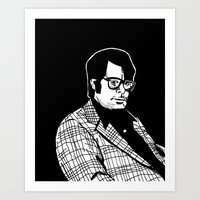 stephen king Art Prints featuring Stephen King by Corinne Halbert
