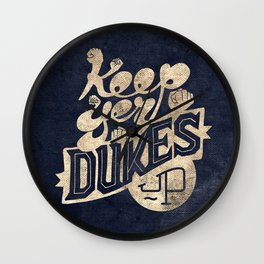 Keep Yer Dukes Up Wall Clock