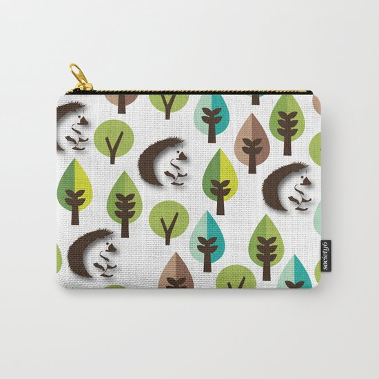 Hedgehog Forest Carry-All Pouch
