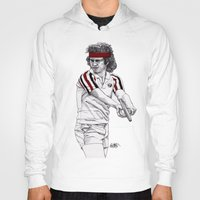 tennis Hoodies featuring Tennis Mcenroe by Paul Nelson-Esch Art