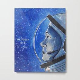Inktober - Astronaut Metal Print