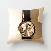 mickey Throw Pillows featuring Mickey by Larry Bierce