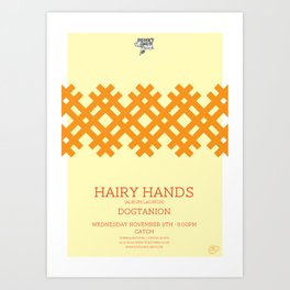 Hairy Hands Art Print