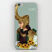 loki iPhone & iPod Skins featuring Loki by tsunami-sand