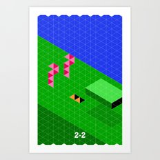 Mario World 2-2 Art Print