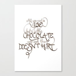 A Little Chocolate Canvas Print