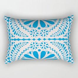 Fiesta de Flores in Party Blue Rectangular Pillow