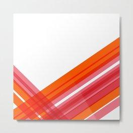 Tangerine Abstract Metal Print