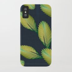 Tillandsia in dark blue Slim Case iPhone X