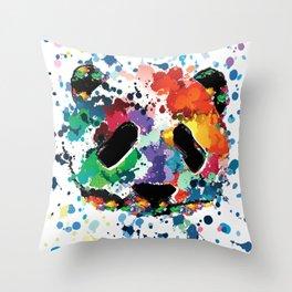 Splash panda Throw Pillow