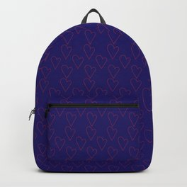 HEARTS ALL OVER #blue #red #heart minimal #art #design #kirovair #buyart #decor #home Backpack