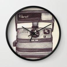 Ballpoint Palaroid Camera Wall Clock