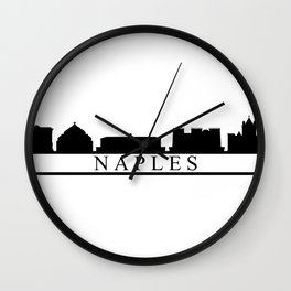 Naples skyline Wall Clock