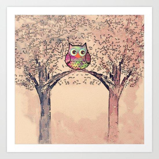 owl-245 Art Print