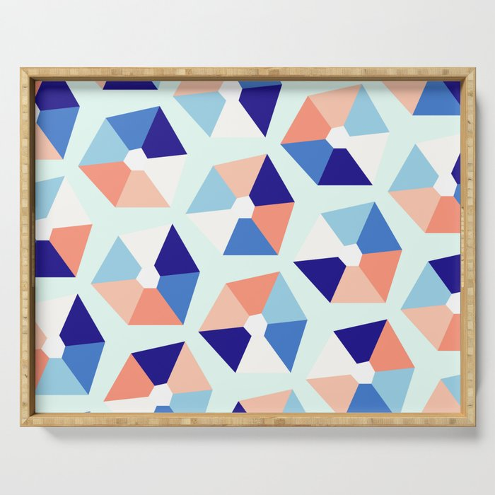 Geometric Bay Serving Tray