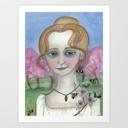 Blossoms Awake Spring,  Four Seasons Portrait Art Print