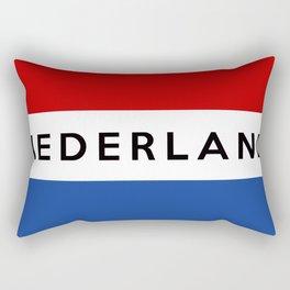 netherlands dutch country flag nederland name text Rectangular Pillow