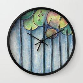 Lollipop Trees 2 Blue Series Wall Clock