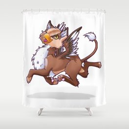 My little gryphon Shower Curtain