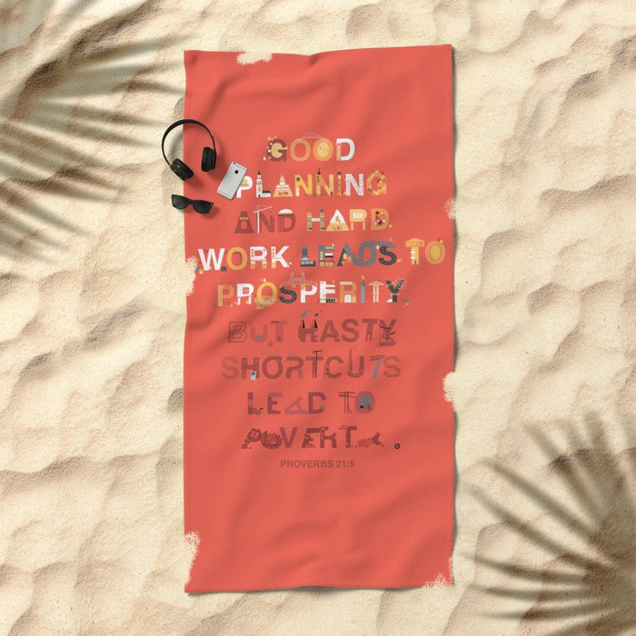 Good planning Beach Towel