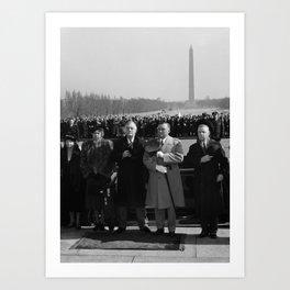 FDR Honoring Abraham Lincoln - 1940 Art Print