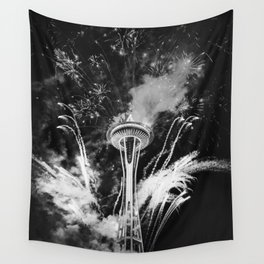 Seattle Space Needle Celebration Wall Tapestry