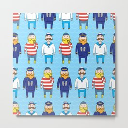 Sailors Metal Print