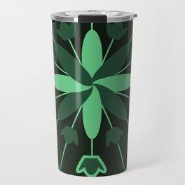 Green Flower Explosion Travel Mug