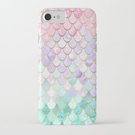 Iridescent Mermaid Pastel and Gold iPhone Case