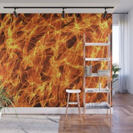Burning fire effect Wall Mural