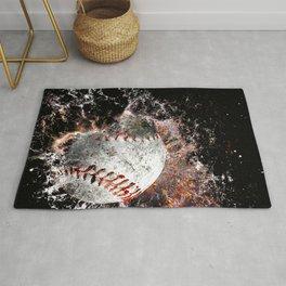 Baseball print work vs 5 Rug
