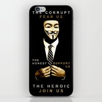 anonymous iPhone & iPod Skins featuring anonymous by Adam Cieslik