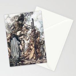Arthur Rackham - Wagner's The Rhinegold & the Valkyries (1910) - Hey! Come hither, and stop me this Stationery Cards
