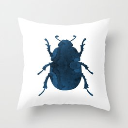 Beetle Scarabaeus Throw Pillow
