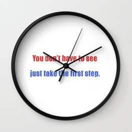 MLK Quote Wall Clock